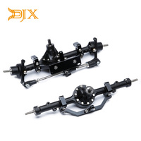 DJX Aluminum Alloy Front And Rear Axle Complete Set CNC Machined for RC4WD D90 Yota II RC Rock Crawler Car