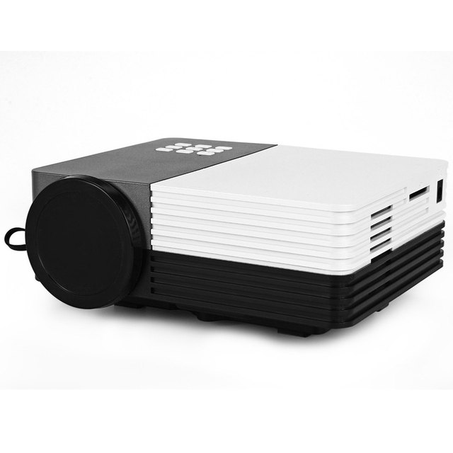 Original GM50 80LM 480x320 Píxeles LCD Proyector con HDMI VGA AV USB SD Control Remoto IR de la Ayuda Ranura Para Tarjeta Incorporada Luz LDE