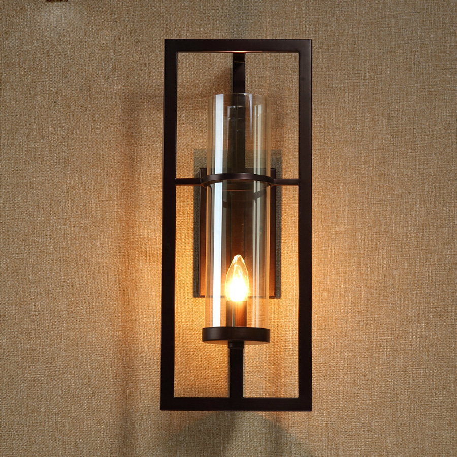 ФОТО Ecolight Vintage Wall Light Wall Sconces Bronze Painting E14 E12 Glass Wall Lamp for Bed Room Bath Room