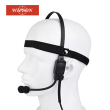 WIPSON Military Tactical Headset Signal bone conduction Speaker zMH180 Airsoft Earphone(China)