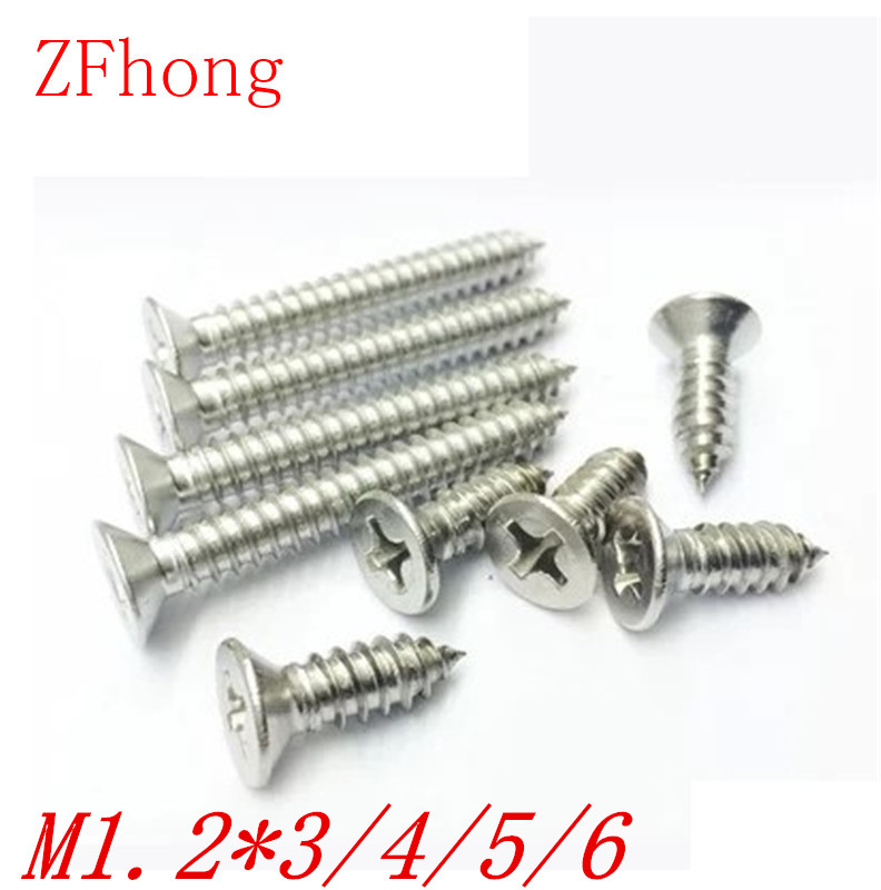 1000pcs M1.2*3/4/5/6 1.2mm nickel plated phillips flat head countersunk head self tapping screw nillkin star series protective case for moto g2 pink