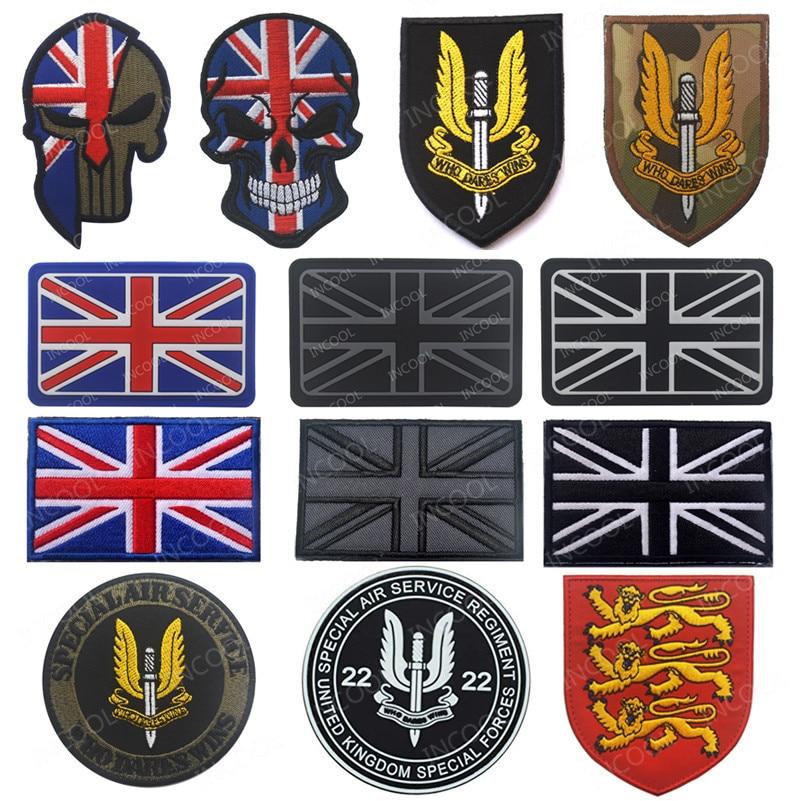 British Flag Badge Embroidery Iron-on England Emblem Patch UK Flag Lion Applique