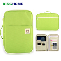 New Zippers Multi functional A4 File Bag Storage Bags Portable iPad Computer Bag Waterproof Oxford Cloth Office Data Storage Bag
