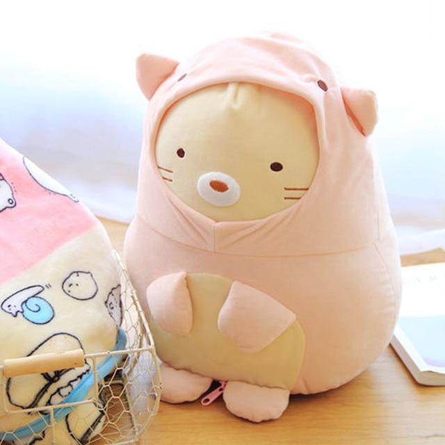 sumikko gurashi cat plush soft toy cute pillow blanket doll birthday