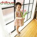 chifave New Arrival Girls Dresses Summer 2016 Children Girls Sleeveless Backless Heart Knee-Length Dresses Fashion Baby Dress
