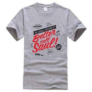 Image 2 - T shirt manches courtes hommes, vêtements de marque kpop, à la mode et humoristique, mieux Call Saul imprimées, estival