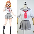 LoveLive! Sunshine Aqours Takami Chika Sailor Suit Cosplay Costume School Cheerleading Uniform Dress Anime For Cute Girls Female