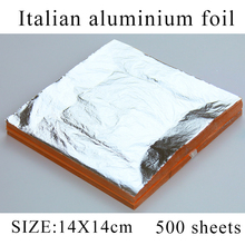 500 sheets Italian aluminum imitation silver leaf foil for art crafts , furniture decorations 14X14cm free shipping