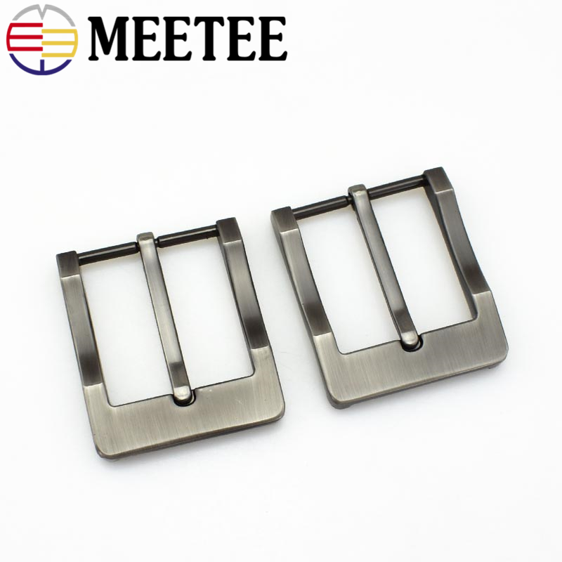 Meetee 40mm Width Alloy Metal Belt Buckles Cowboy Pin Buckle for Men Jeans Accessories DIY Leather Craft Hardware KY234