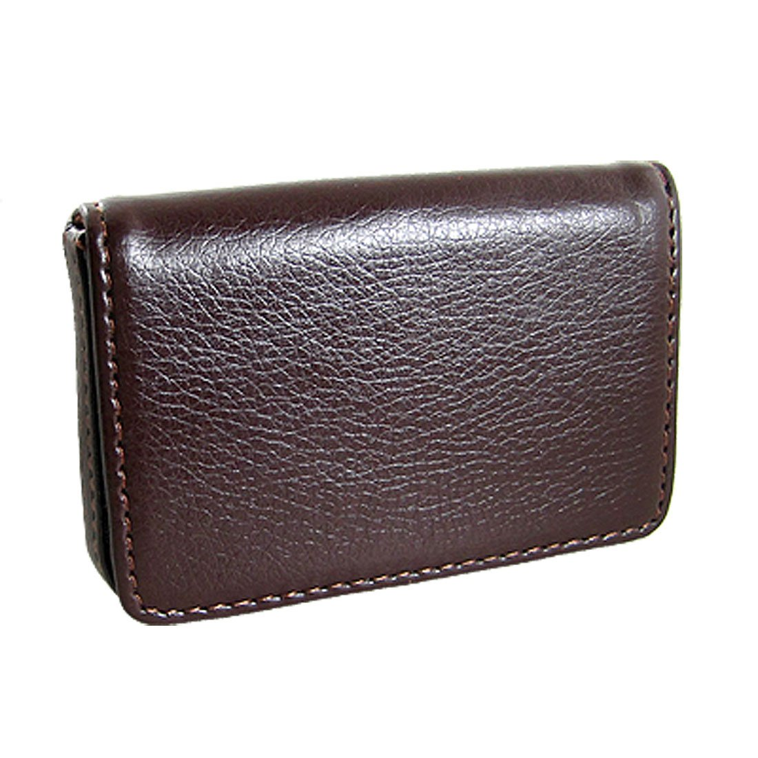 BLEL Hot Magnetic Flip Leather Business Credit Card Case Holder Brown
