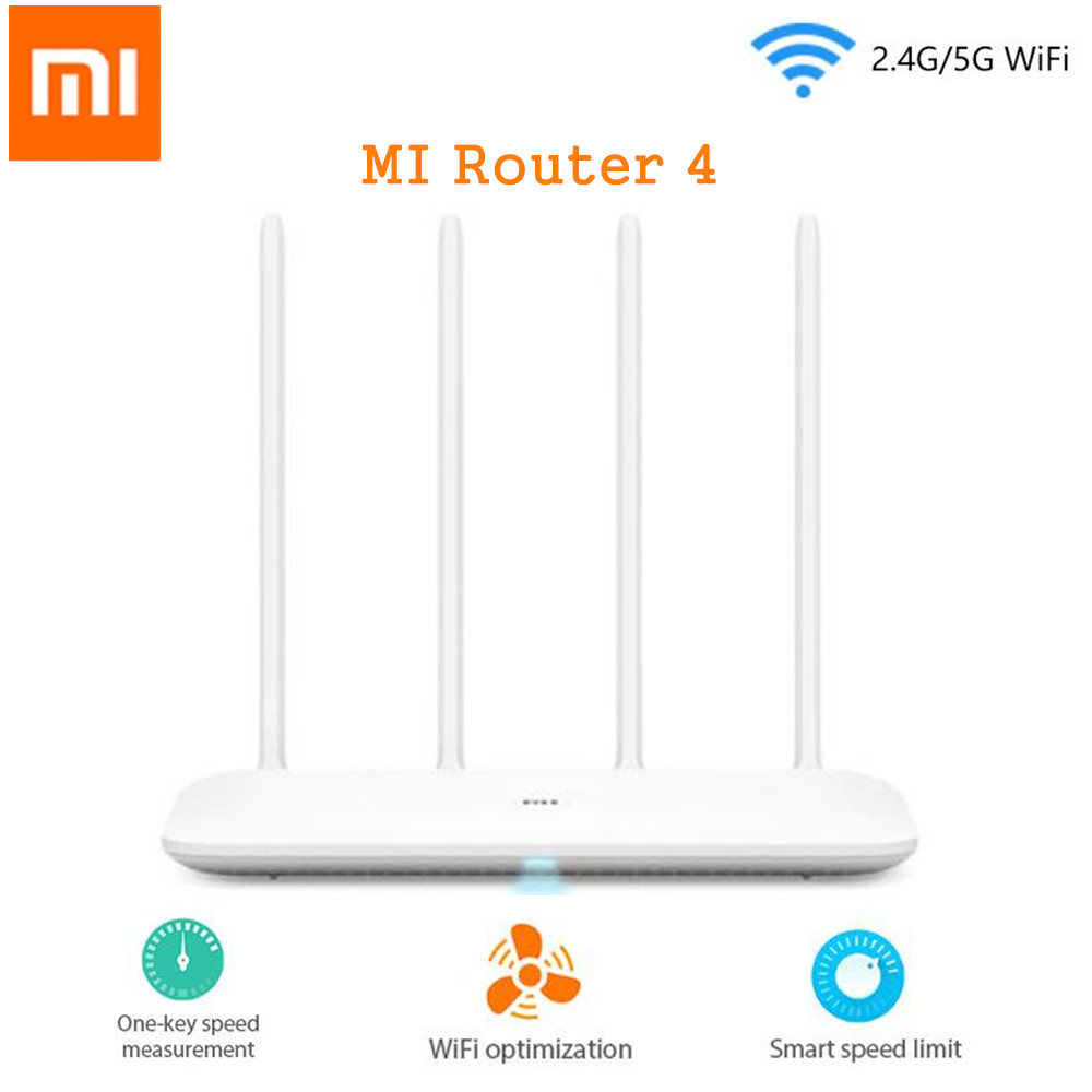 Xiao mi routeur 4 sans fil WiFi routeur 1167 Mbps WiFi répéteur 2.4G 5 GHz 128 mo DDR3-1200 double bande double noyau 880 MHz APP contrôle