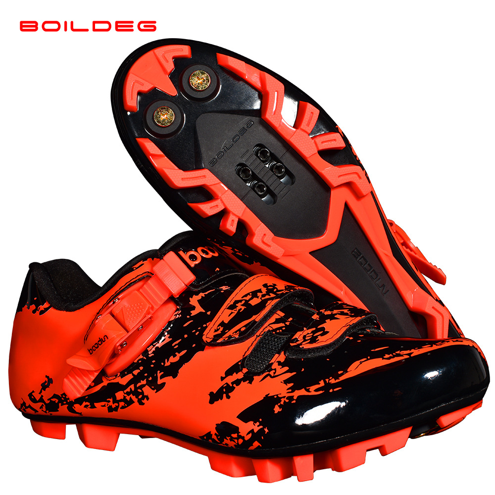 Image 4 - 2019 NEW cycling shoes ultralight Breathable Mountain bike  Locking shoes Outdoor sports MTB bicycle professional Riding  shoesCycling Shoes