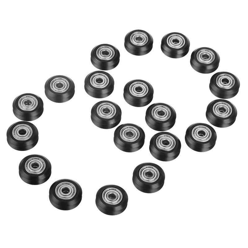 20 pçs/lote 5mm V Groove Forma Diâmetro 625 Rolamento de Roda Polia Acessórios para Ferramentas CNC 3D Impressora
