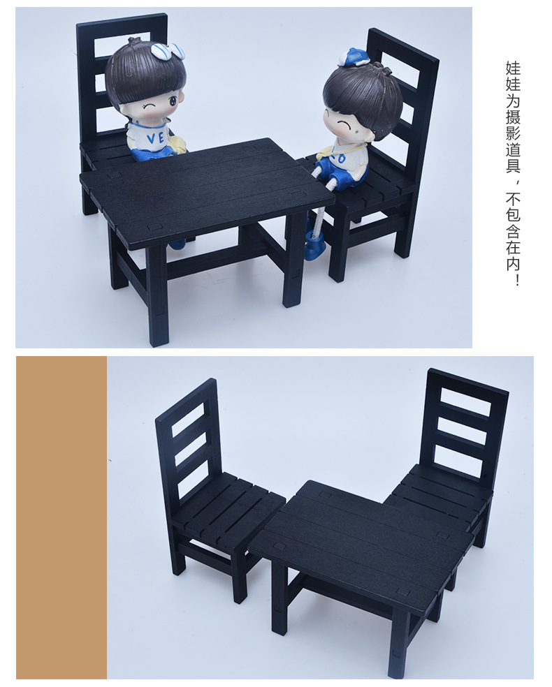 Peachy Us 13 06 35 Off Diy Dollhouse Furniture Playset Wooden Table Chair For Barbie Doll Wooden Bench Miniature For Blythe Display Accessories In Dolls Gmtry Best Dining Table And Chair Ideas Images Gmtryco