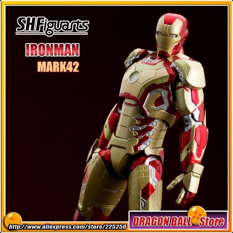 Original BANDAI Tamashii Nations SHF/ S.H.Figuarts Toy Action Figure - Iron Man MK-42 / Mark 42 + Bonus Gift Tony's Sofa