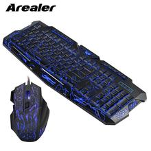 J60 Gaming Keyboard Mouse Combo Anti ghosting Adjustable DPI Colorful Backlit for Desktop Notebook Laptop PC Computer