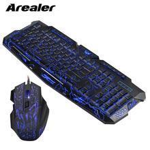 J60 teclado y ratón para videojuegos, Combo antighosting ajustable, DPI, retroiluminado, colorido, para ordenador de escritorio, portátil, PC