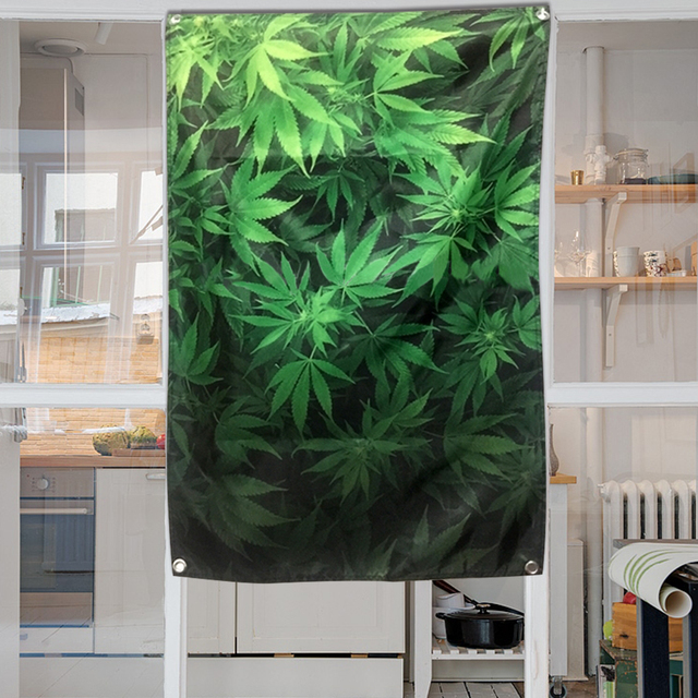 Yazi Plantes Style Vert Feuille Tapisserie Porte Mur Rideau