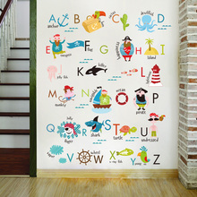Letter baby bedroom wall stickers Child learning sticker for kids room boy girl decor 2018 new style