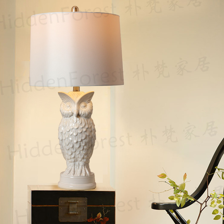 Сова лампы парк брахман экспорта США американский кантри современные и контракт ночники исследование лампы