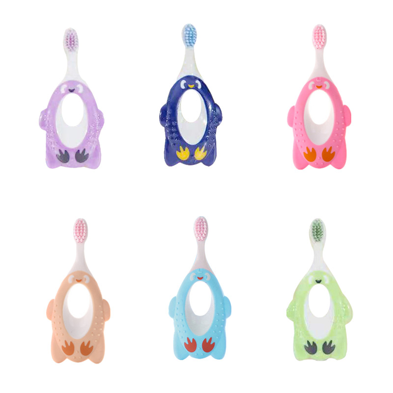 1Pc Training Toothbrush for Kids Toddler Cartoon Child Protection Tooth Brush 1~6 Years Old Baby Dental Gum Care image