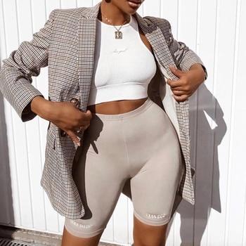 Short paragraph Letter printed Leggings For Women High Waist Black Fashion SweatPants Push Up Fitness Leggings casual pants 1