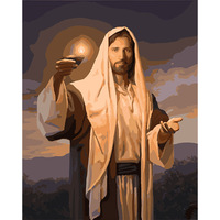 6 Style Famous Religion Oil Painting Of Jesus Christ 40 50cm Painting By Numbers Hand Painted