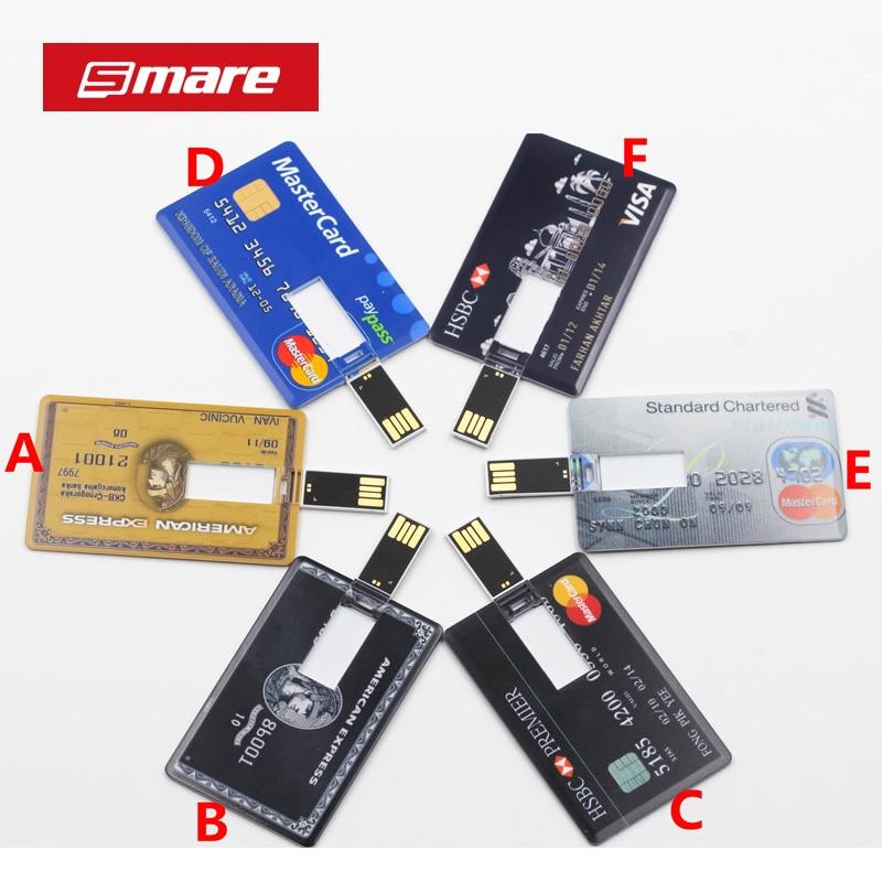 SMARE kreditkort USB Flash Drive skräddarsydda Pendrive Pendrive personlig som din logotyp foto design pendrive