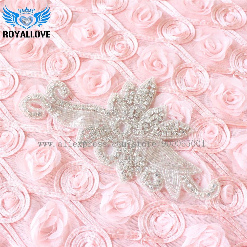 30Pcs Sparkle Rhinestone applique crystal applique large embellishment bridal  wedding belts and sashes diamante beaded Motif e086f2a032fa