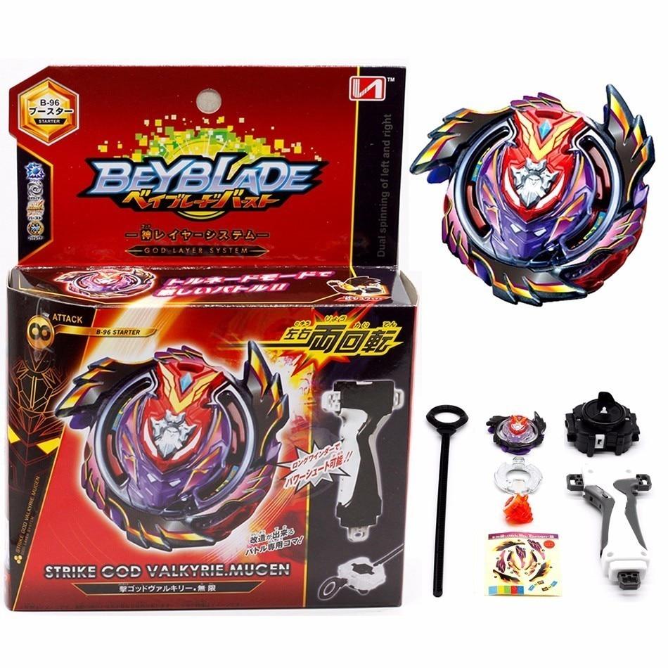 Top Beyblade Burst B113 B96 91 82 Dengan Launcher Anak Mainan Lucu