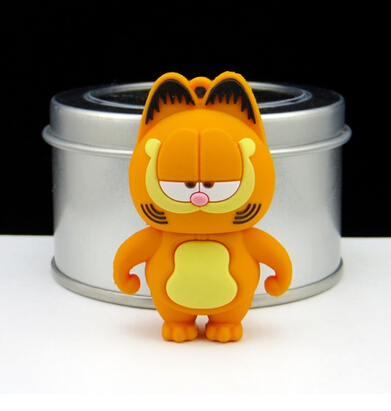 hot sell cartoon cute Garfield Cat usb 2.0 flash drive good quality Memory Stick 4g 16g Thumb/Pendrive U Disk creative Gift#21