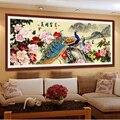 Алмазная вышивка 5D «сделай сам»  Алмазная мозаика с изображением павлина  пиона  насыщенных цветов  пионов  круглая алмазная живопись  набор...