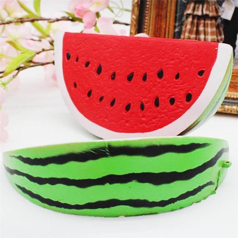Kawaii 14cm Jumbo Squishy Watermelon Super Slow Rising Squeeze Soft Stretch Scented Bread Cake Fruit Fun Kids Toys Gift,Xm35
