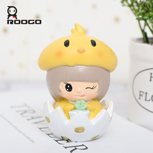 Roogo Cute Rabbit Home Decoration Accessories Fairy House Decor Resin Mini Figurines Of Animals Crafts Creative Kids Birth Gifts