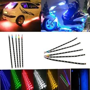 Image 3 - 12V Car Interior Led Strip Sticker Daytime Running Lights Waterproof Flexible Car Light 4 Color