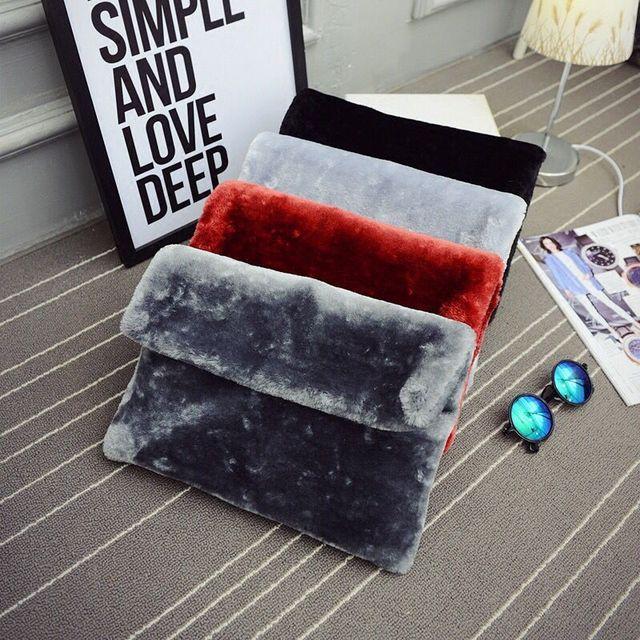 2017 Новинка зимы Сумки корейской версии из высококачественного плюша конверт мешок большой емкости клатч цепи женская сумка