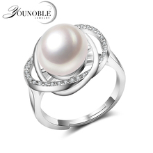 Real Ring Pearl Jewelry,natural Pearl rings for love,Freshwater Pearl 925 Silver ring,ruby silver rings for women gift box daimi 925 silver pearl ring double ring design freshwater pearl five pearl rings