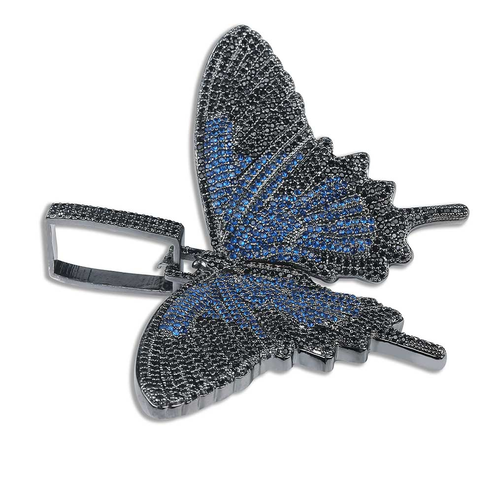 Image 4 - JINAO New Iced Out Insect Multicolor Butterfly Pendants&Necklaces Micro Pave Cuban Zircon Stone Pendant Necklace Hip Hop Gift-in Pendant Necklaces from Jewelry & Accessories