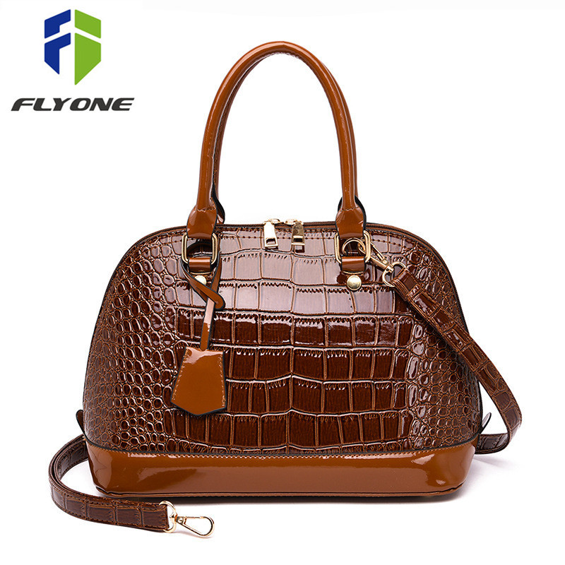 Hot Sale Fashion Women Shell Bags Patent Leather Shoulder Bag Handbag High Quality Party Crossbody Messenger Bags Bolsa Sac Main