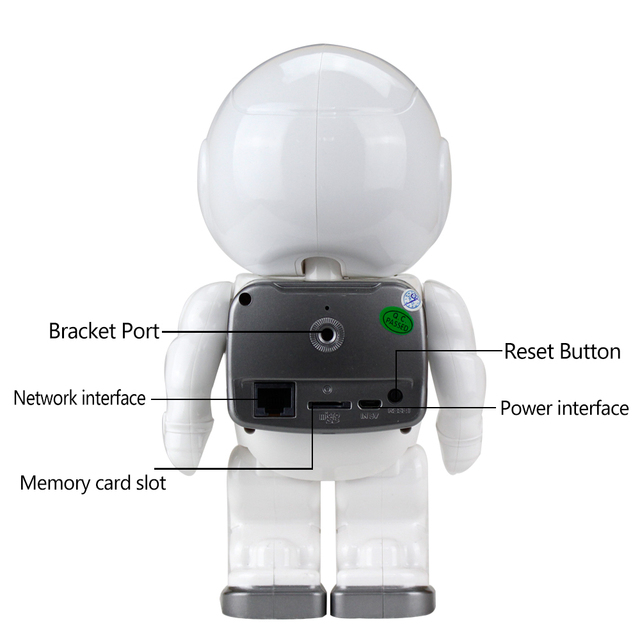 OBO Hands Security WIFI IP Camera 960P P2P Cloud Storage IR Night Vision Support Mobile Phone Remote Control Hidden Robot Camera