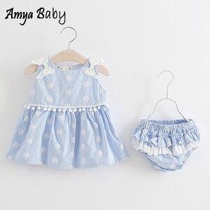 AmyaBaby/Летняя одежда для маленьких девочек; платья для первого дня рождения; детская одежда для девочек; вечерние платья для маленьких девоче...