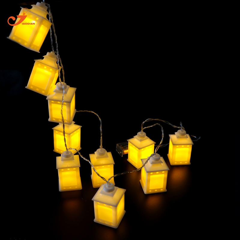 Yellow Lantern Fairy Light String Lights Holiday 10 Led Christmas Lighting Battery Operated Patio Party Ramadan Decor Warm White In Led String From Lights