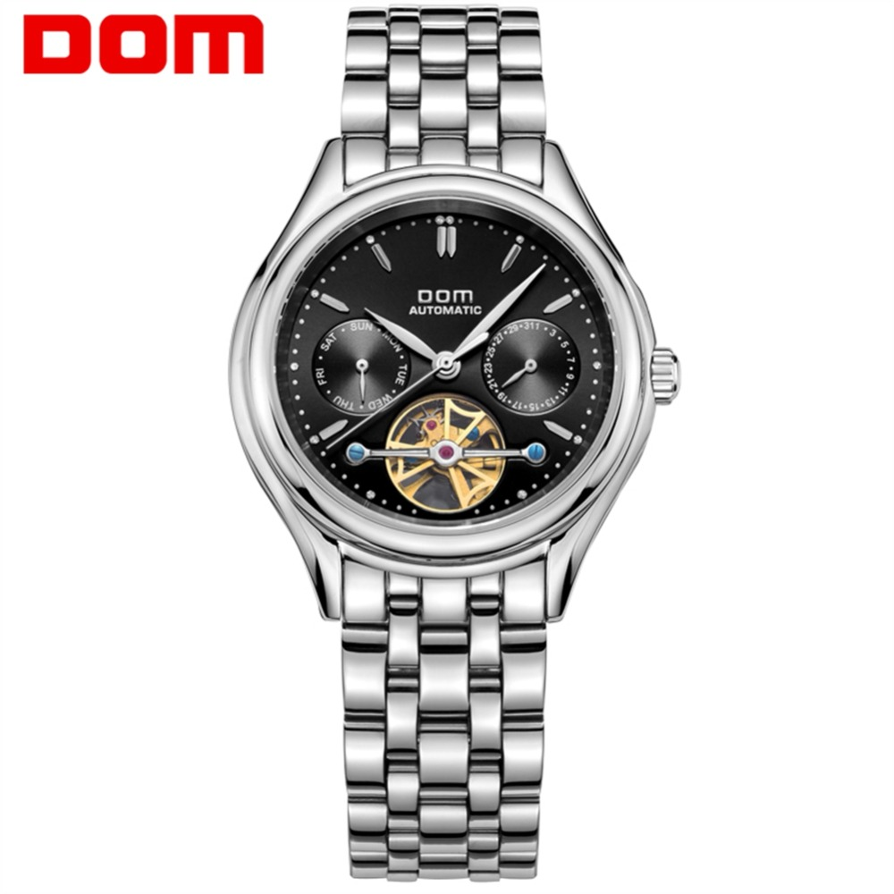 DOM Mens Watches Top Brand Luxury Mechanical Watch Men Stainless Steel Waterproof Sport Wrist Watch Reloj Hombre M-815D-1M цена