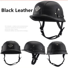 Retro and Vintage Half Open Face DOT Approved Motorcycle Helmet for Man Woman M L XL