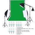 Libre de RU STOCK Photography Kit de Estudio Fotográfico Kit de Iluminación con Luz Backdrop Soporte Bombilla Softbox paño Suave ect