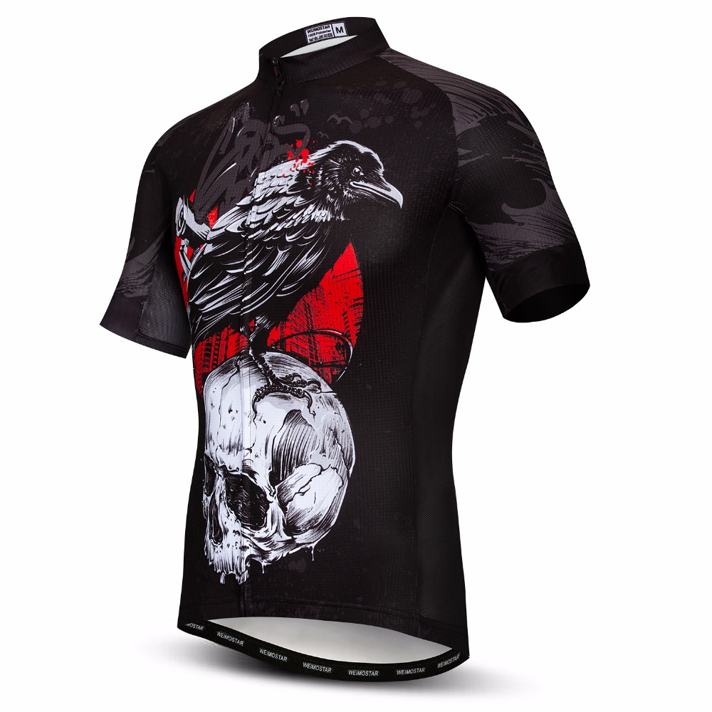Weimostar Bike Team Sport Cycling Jersey Men Summer Polyester Race Bicycle Shirt Quick Dry mtb Bike Jersey Tops Maillot Black