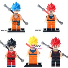 Single star wars super heroes Dragon Ball Z Goku Son Vegeta Master Roshi Figures building blocks model toys for children kits(China)