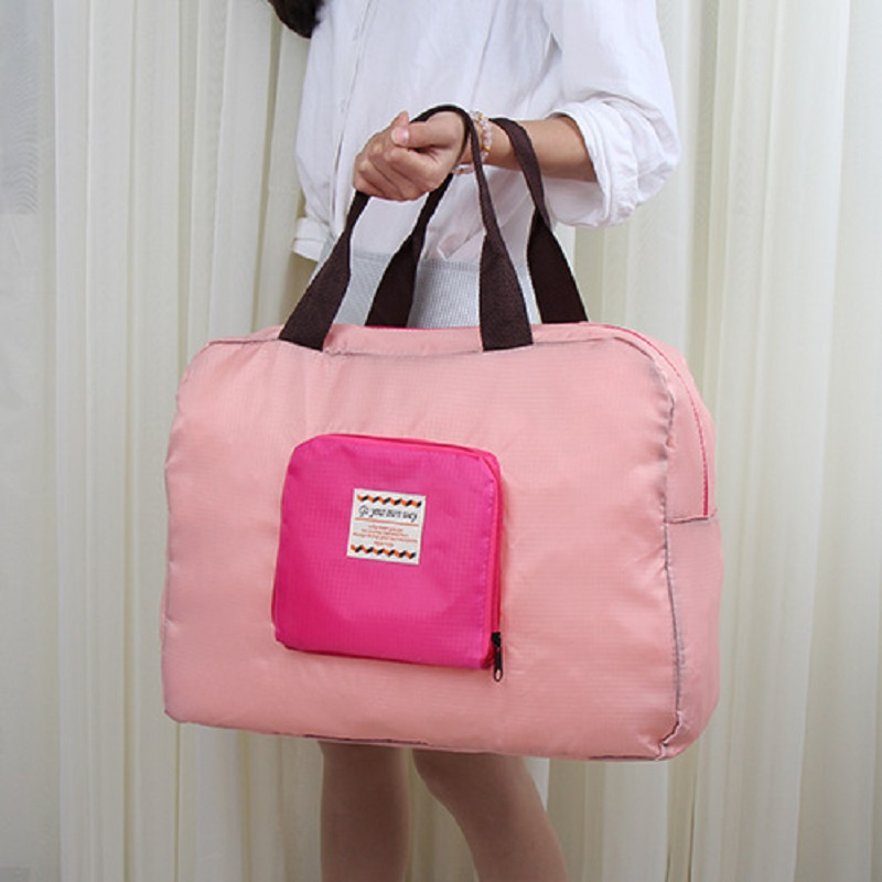 Nylon womens travel totes folding organizer duffle shoulder bags female ladies bolso mujer bolsa feminina for girls