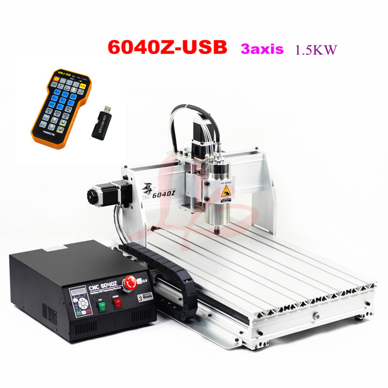 1500w cnc 6040 router machine with usb port and mach3 remote control cnc 6040 router 3axis pcb cutting machine 1500w with water tank