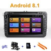 8 Android 8.1 Car DVD multimedia Player Stereo Radio GPS for VW Golf/Polo/Tiguan/Passat/b7/b6/CC/SEAT/leon/Skoda/Octavia